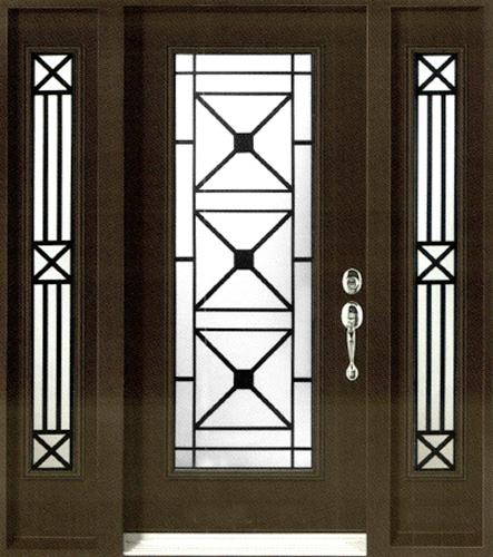 Wrought Iron Glass Inserts Classy Doors