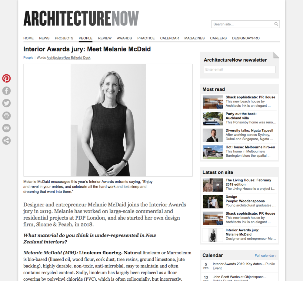 Architecture Now - Interior Awards Jury