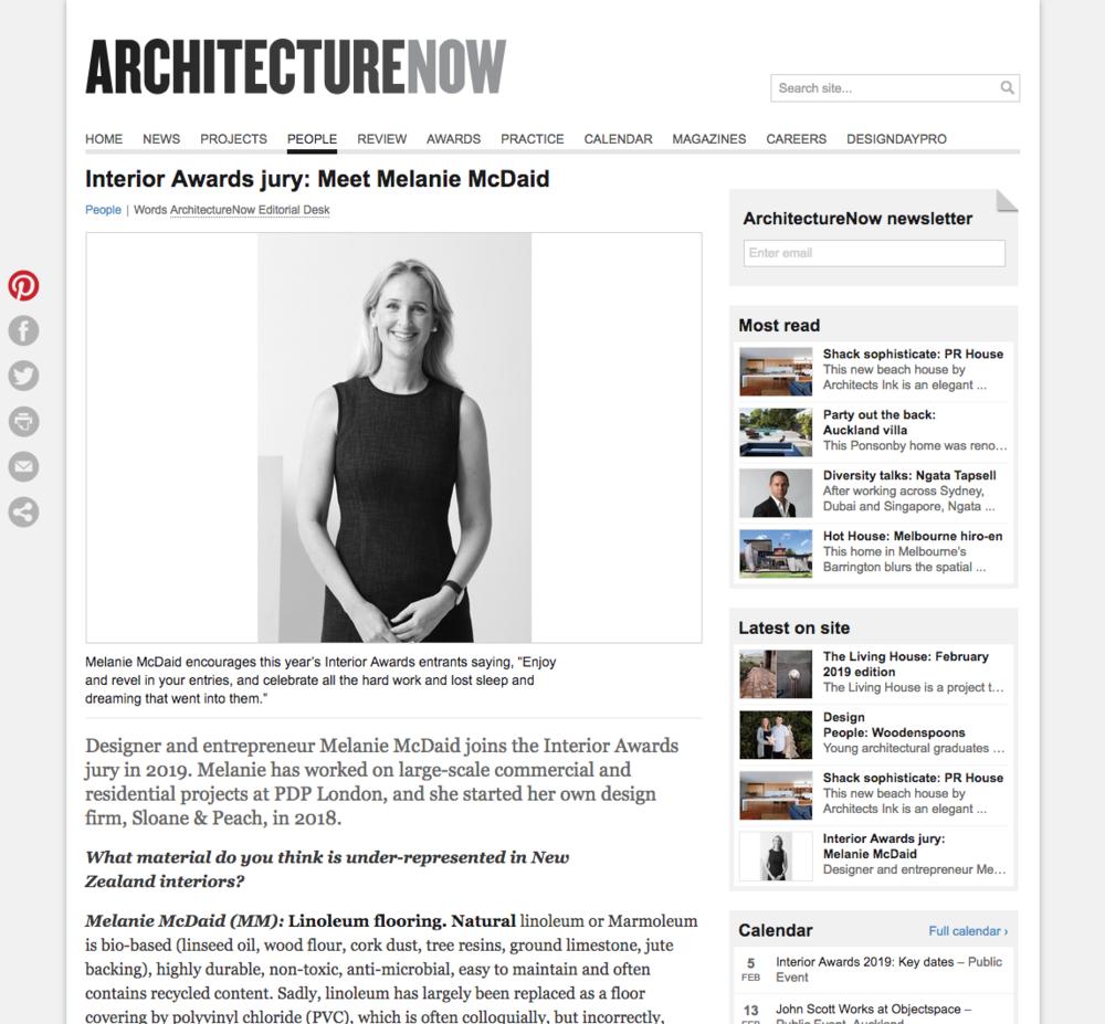 Architecture Now - Interior Awards Jury