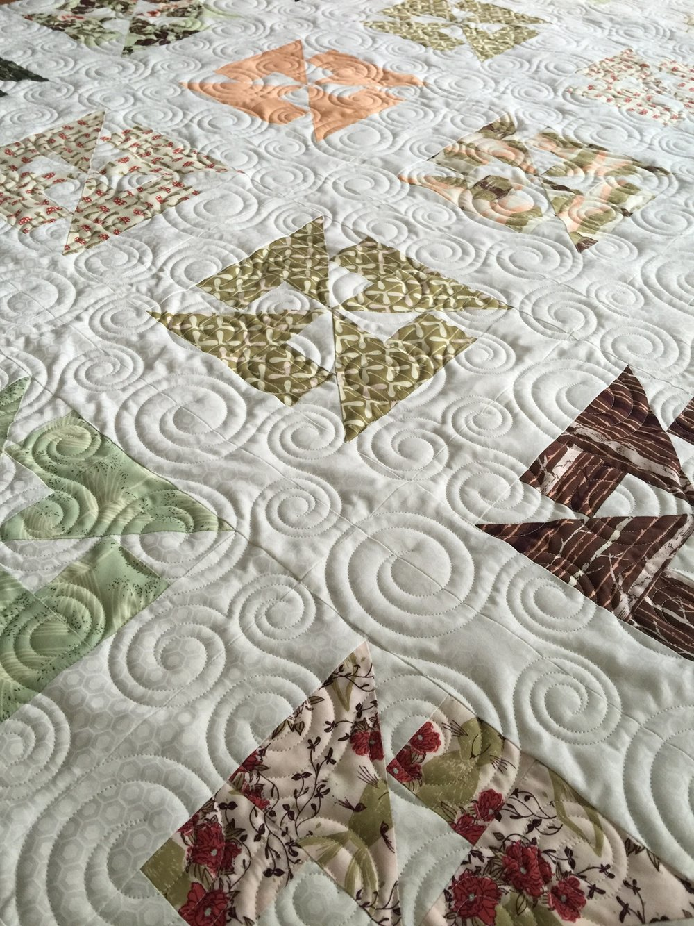 edge to edge machine quilting