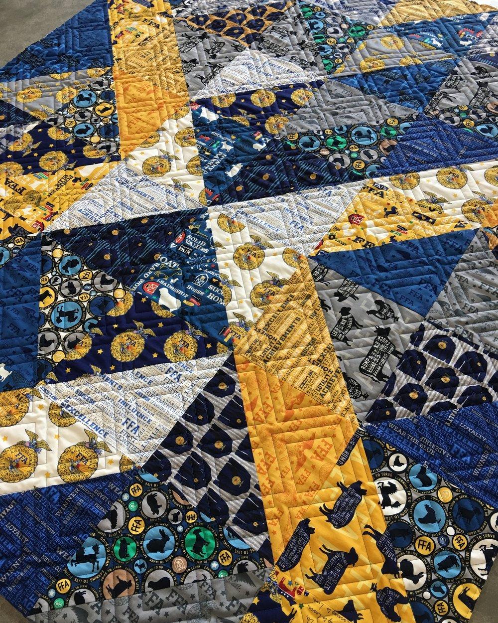 Quilting Design: Diagonal Plaid