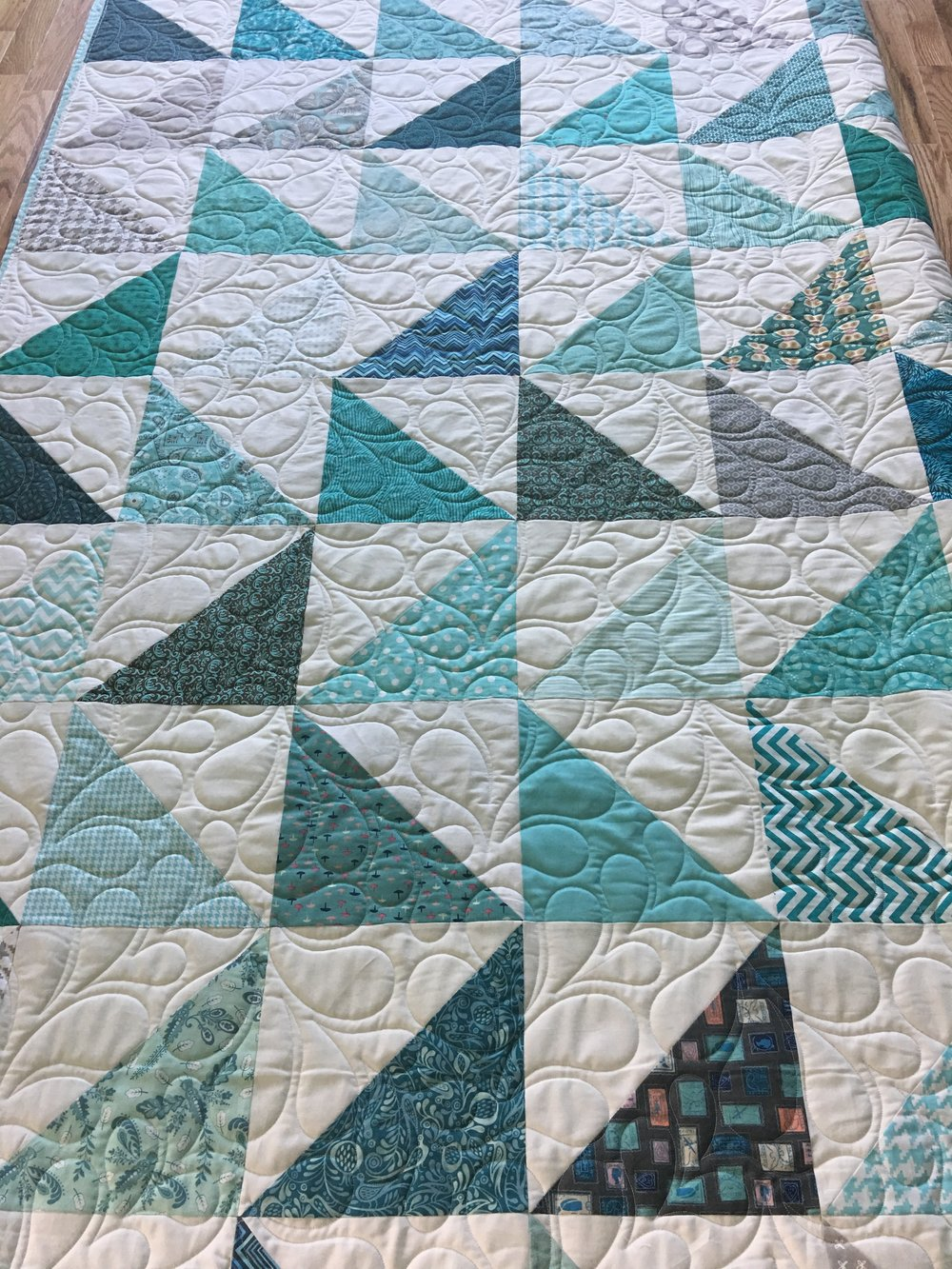 Quilting Design: Feather Puff