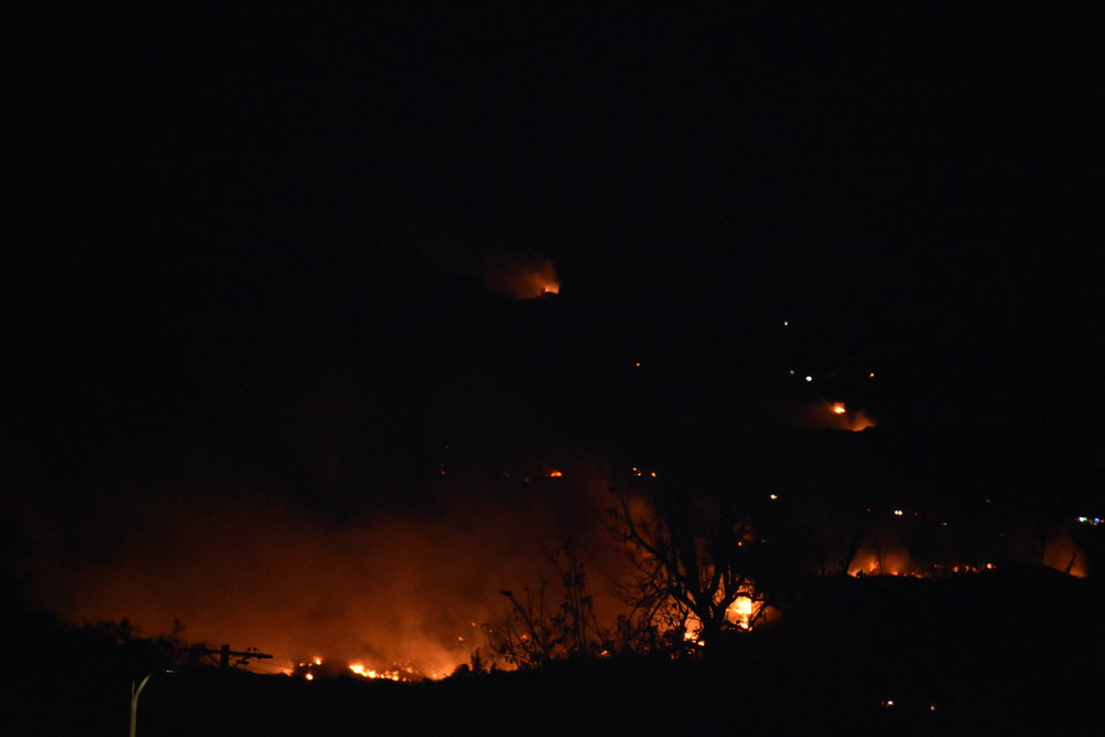 Woolsey Fire. I snapped a photo of what the area on this side of the mountain looks like in West Hills @ Valley Circle at 9:46pm on 9 Nov 2018, from approx. 4 miles away at Topanga Canyon & Saticoy. Those trees in the distance are only about 1 mile away from me  #depthperception.  It looks like a brush fire from my distance, but it's actually huge and that's a big area on fire from 4 miles away.  📷: @officialeldoncloud / @eldongrazer  ©: @unlimitedevolution   #nikon   #nikonD7200   #nikonDSLR   #woolseyfire   #woolseycanyon   #westhills   #valleycircle   #bellcanyon   #topangacanyon   #saticoy   #californiafire   #unlimitedevolution