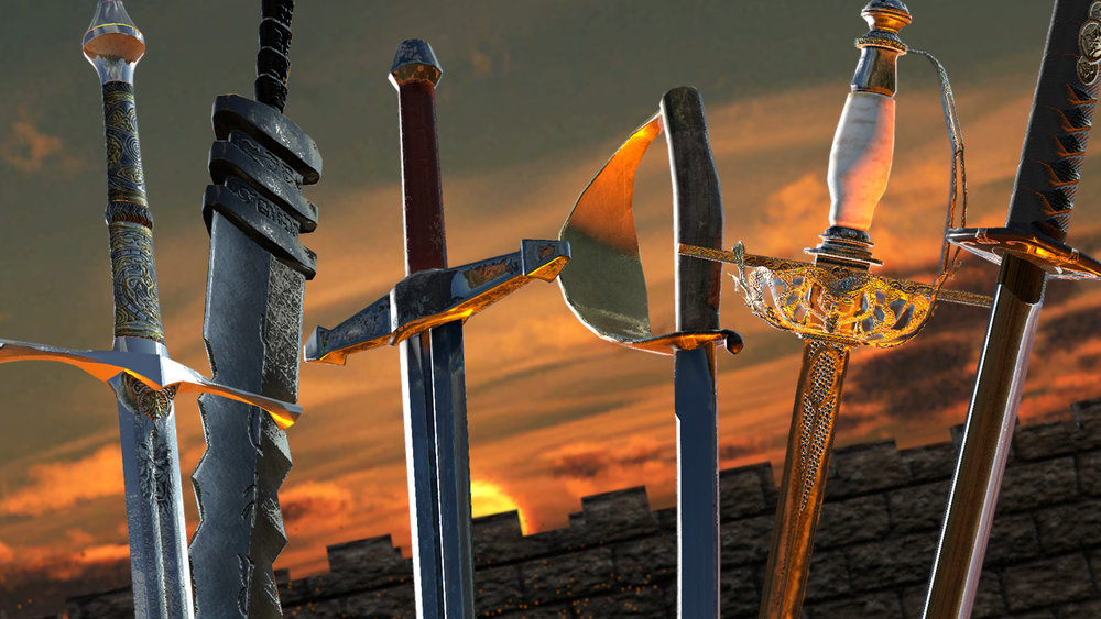 Throughout the 10 challenging levels of Sword Master VR, you will unlock a variety of swords, all with different styles, stats, weaknesses, and strengths. There are 8 swords in total! And you can unlock Duel Wielding!
