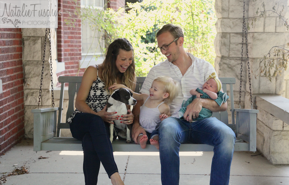 family photography front porch lifestyle session memphis