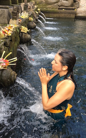 Prayers at Pura Tirta Empul (Water Temple) Bali, Indonesia