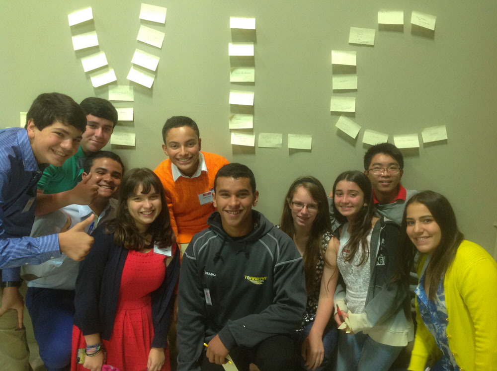 Students Brainstorm Issues in Their Community
