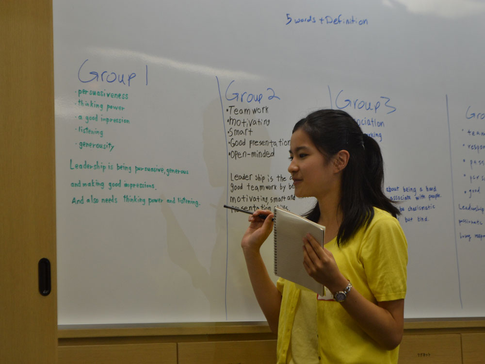 Students Make Their Own Definition of Leadership