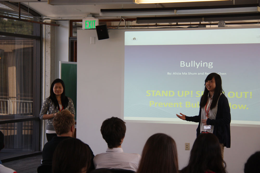 Two Students Present Their Project on Bullying