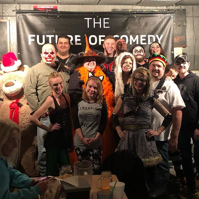 👻🎃 Another Great Halloween Show 🎃👻 Big thanks to everyone who came out to Jenn's for a fantastic night of Comedy! Congrats to April the Huskie for winning the $100 Cash Prize 🎃 See everyone tomorrow at the Spinning Wheel in Bay City!!