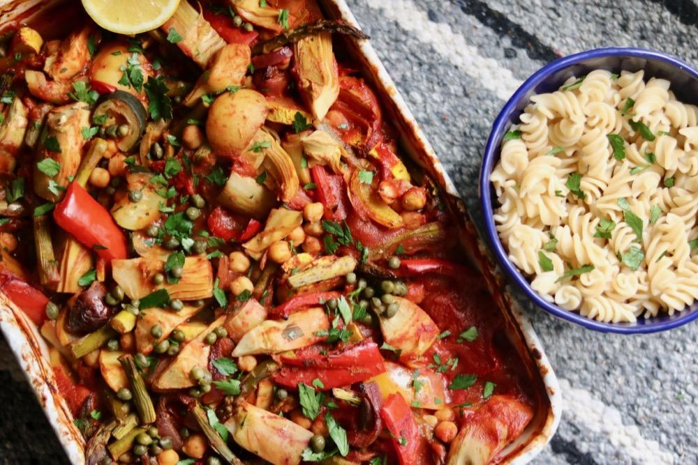 Spring-time Mediterranean One-Dish Dinner