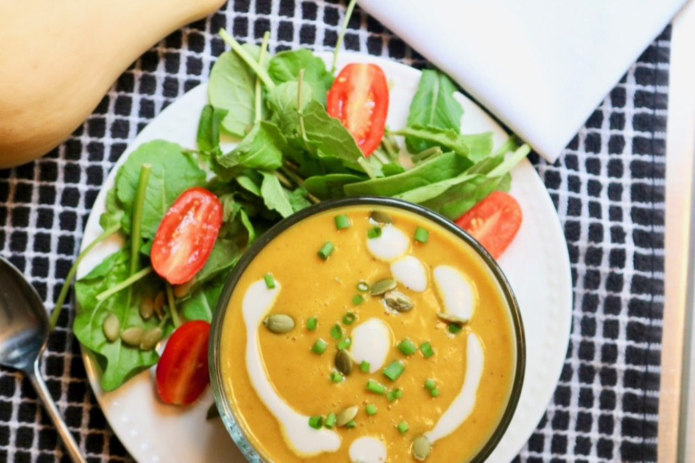 Creamy Coconut Curry Butternut Squash Soup