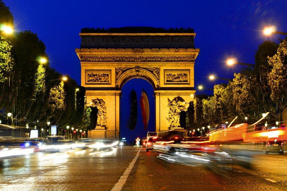 The Iconic Arc de Triomphe, just steps from L'Hotel du Collectionneur Arc de Triomphe