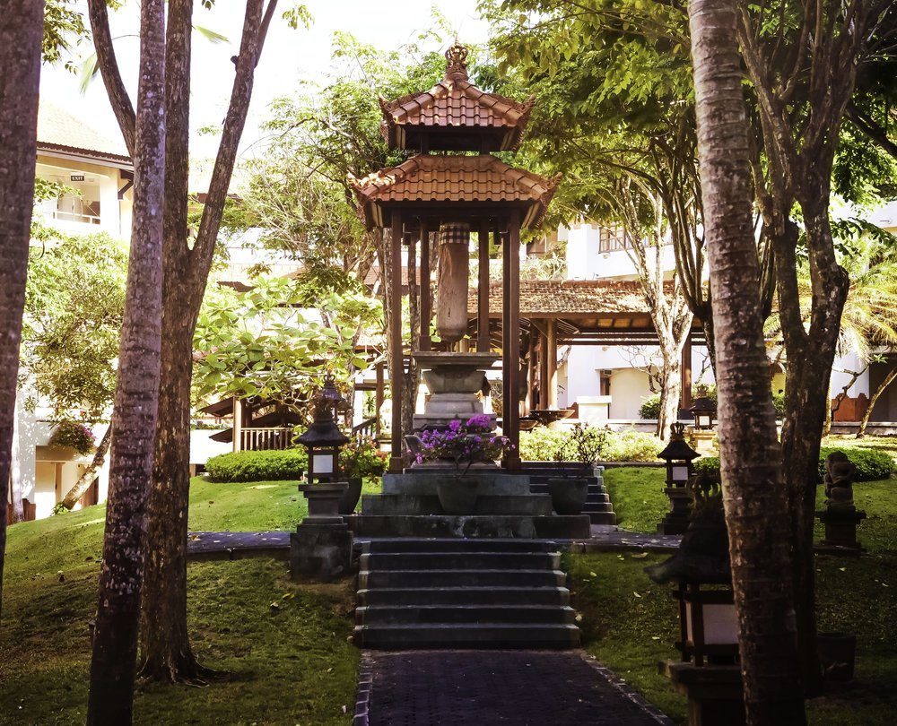 'Discover' four immense courtyards at the Grand Hyatt Bali