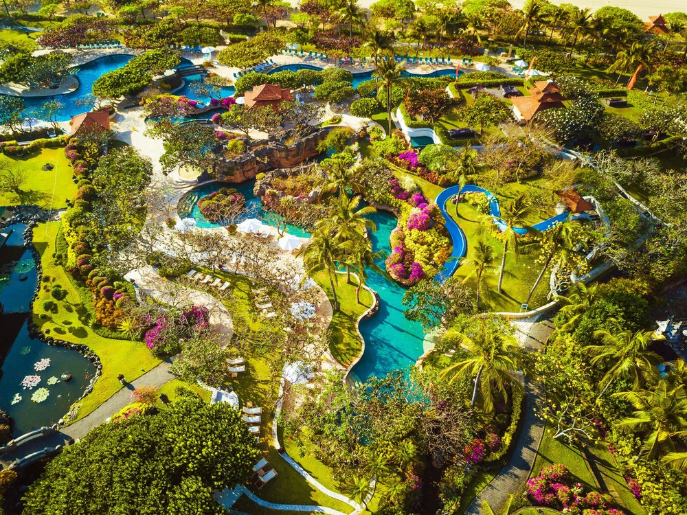 Lazy rivers, exciting slides, lotus lagoons, secret pools and waterfalls all come together to create a tropical paradise