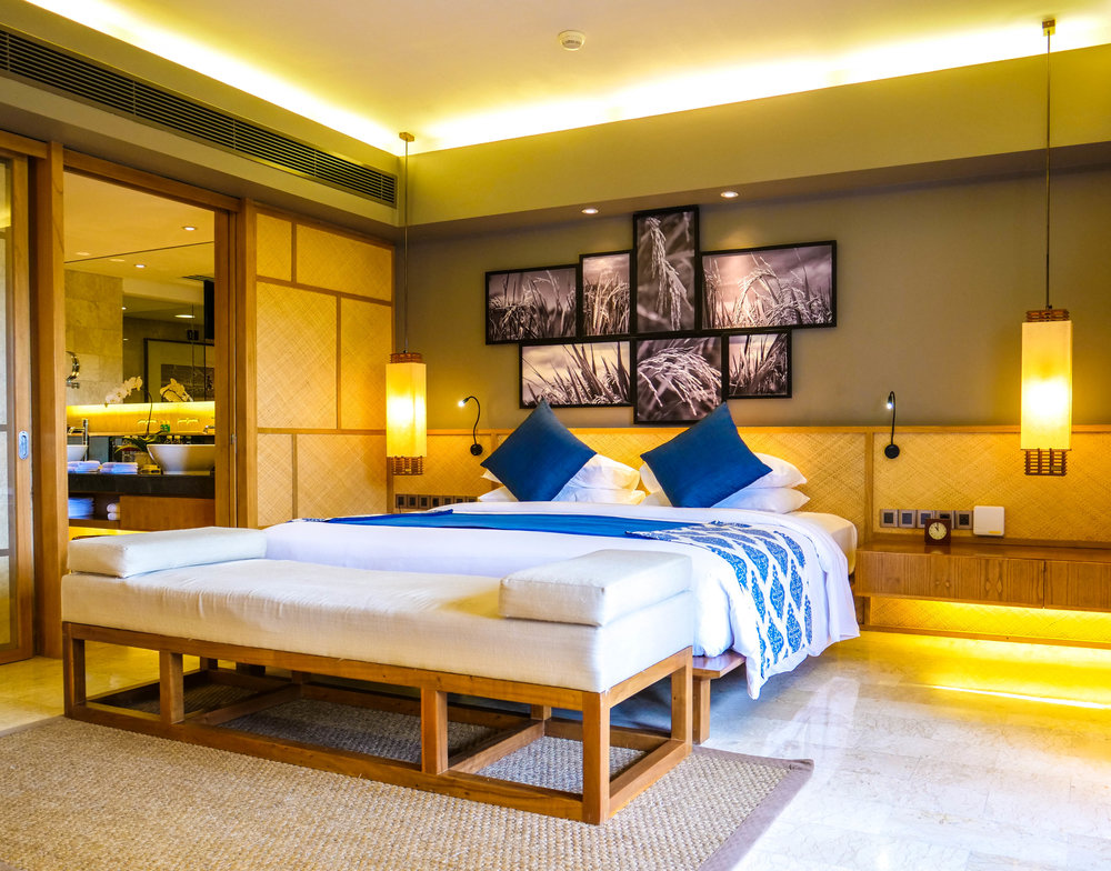 Modern accommodation with authentic Balinese furnishings