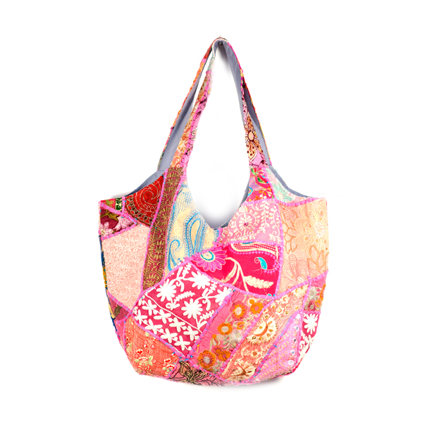 a1855782c1fe Upcycled Sari Tote — Traveller s Bazaar