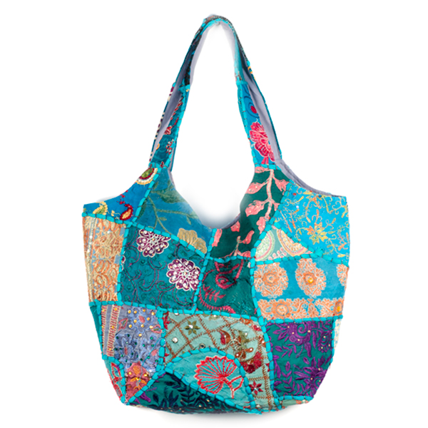 0faa4651e3fd Recycled Boho Eco Indian Patchwork Jute Luxury Tote