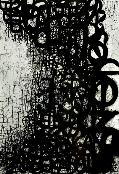 """9.9.2009 Ink on Paper 42"""" x 61"""""""