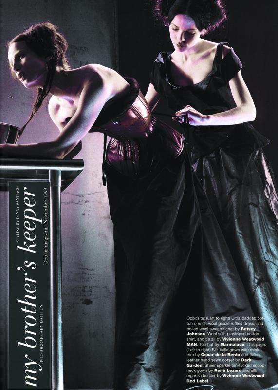 Dark Garden corset featured in a 1999 Detour magazine editorial.