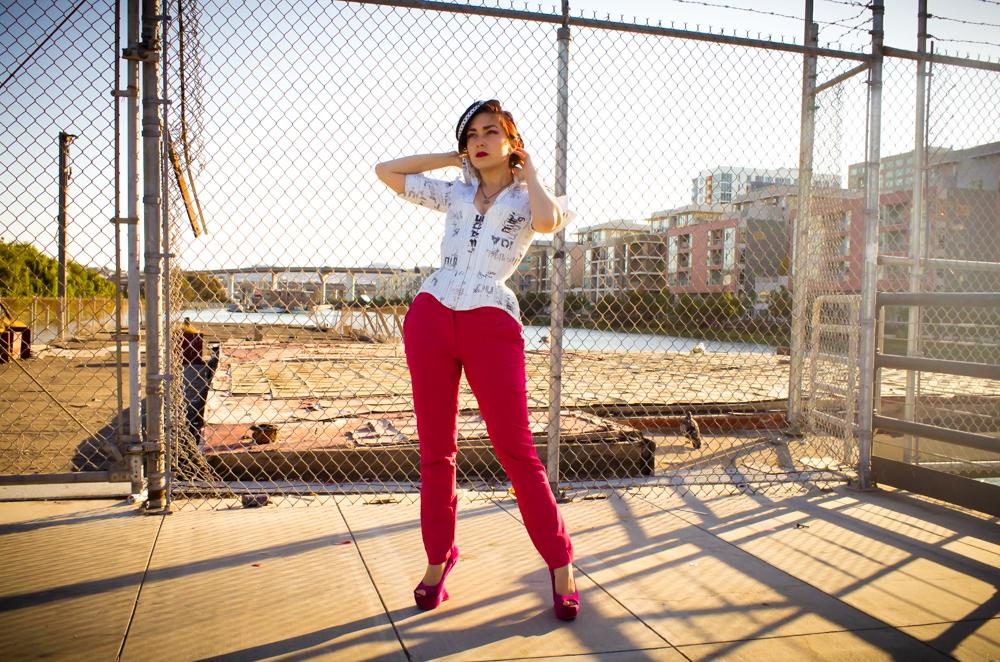 "Corset: Pop Antique ""Shirtwaist Corset."" Model: Victoria Dagger. Photo © Alyx Ryan."