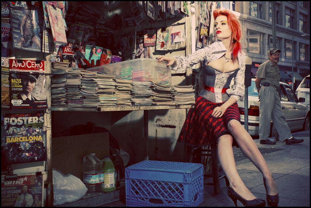"Corset: Pop Antique "" Valentine "" | Top & Skirt: Pop Antique | Model: Ulorin Vex | Photo © S H Photo"