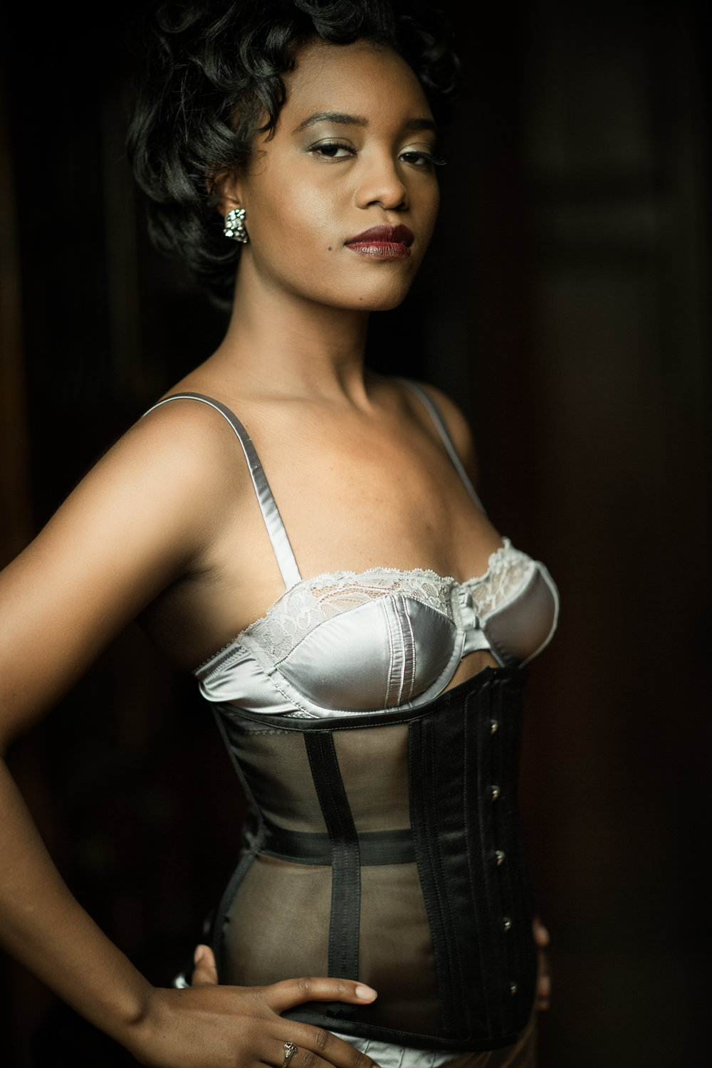 "Corset: Dark Garden "" Risqué Cincher "" 