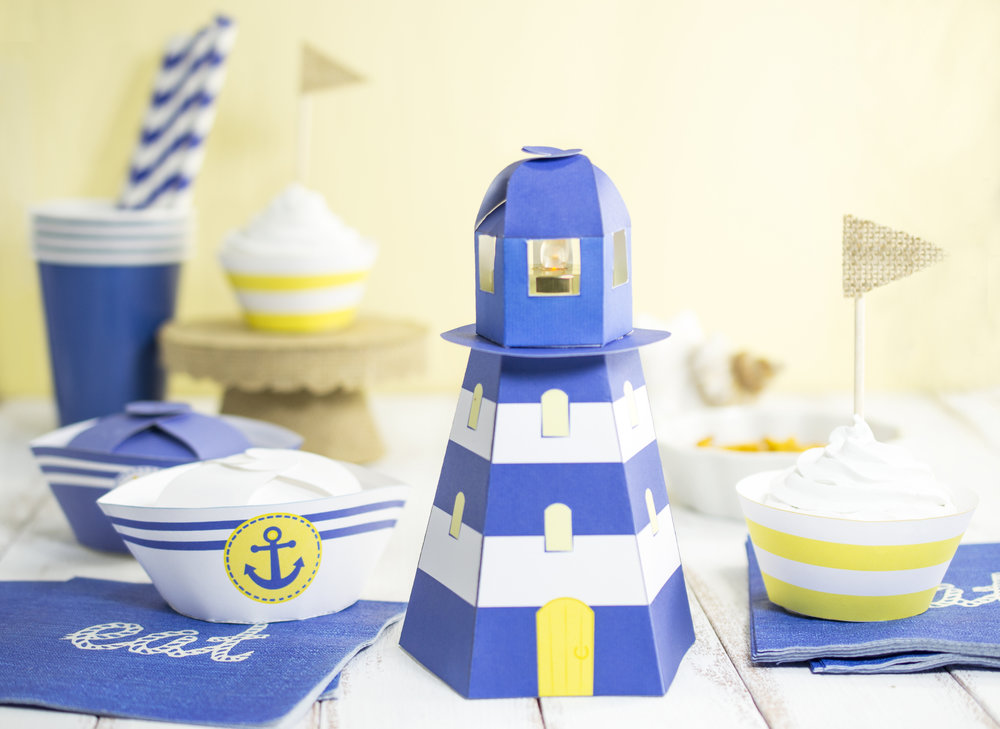 This Little Light of Mine-DIY Printable Lighthouse Tealight Holder ...