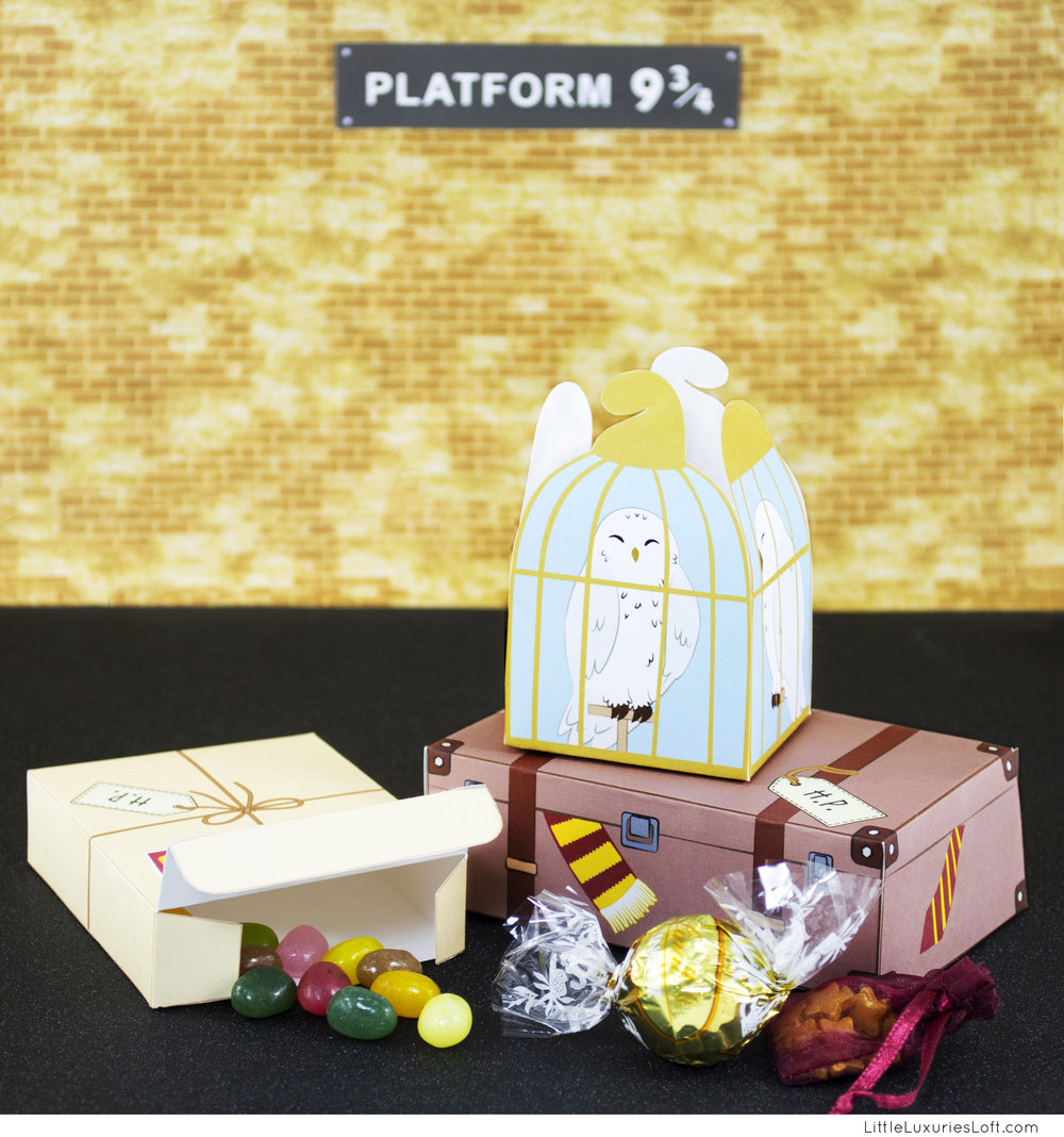 To hogwarts we will go harry potter inspired printable treat harry potter inspired printable treat boxes pronofoot35fo Choice Image