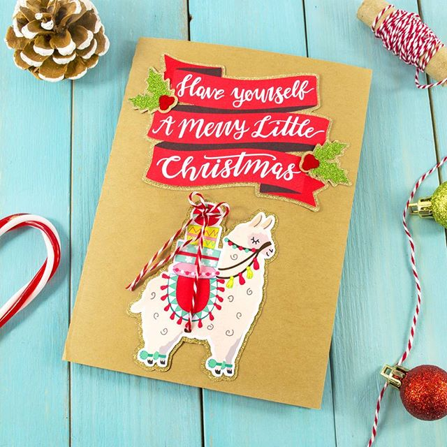 Fa la la llama!  Christmas card crafting continues! Gonna have me a whole lotta little llamas up in here! 😄🎄 #littleluxuriesloft #christmascard #silhouetteamerica #silhouettecameo #llama #alpaca #christmascrafts #papermade #makersgonnamake #crafttime #creatives #creativetime #cardmaking #graphicdesign #haveyourselfamerrylittlechristmas #picoftheday #tistheseason #papercrafts