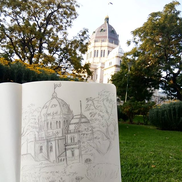 Sketching in Carlton Gardens today 😊. Recovered from surgery last month thanks for all the kind comments on my last post.💞 Back at Redbubble. Can't wait to share some of my project pics! Hope you're all havin a great weekend, Cheers!  #melbart #carltongardens #urbansketch #sketchbook #redbubblecreate #drawingtime #sketch #pencildrawing #melbournegardens #creativetime #artistlife #littleluxuriesloft