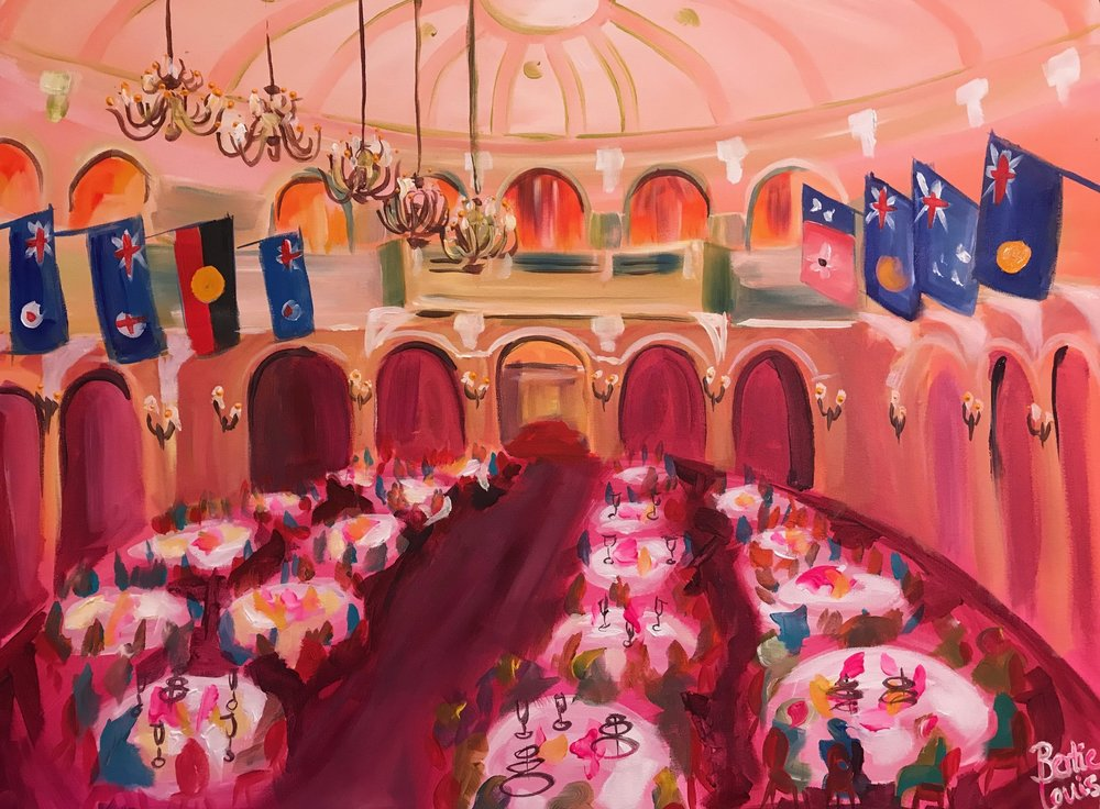 Government House, 3 hour live paint