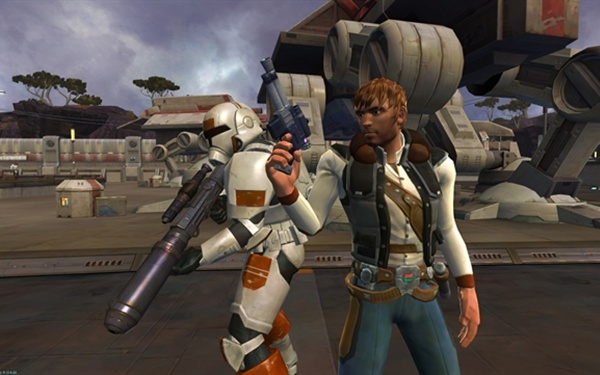 Star Wars: The Old Republic smuggler and trooper