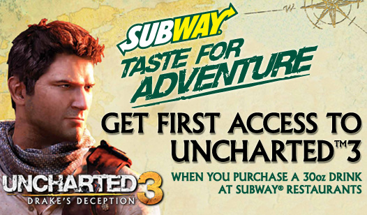 Uncharted 3: Drake's Deception Subway Promotion
