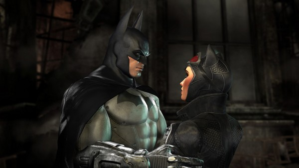 Batman and Catwoman in Arkham City