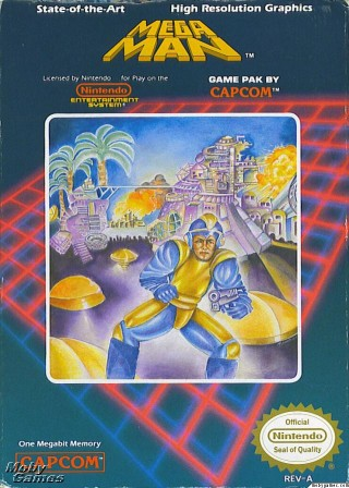 Mega Man 1980s art cover