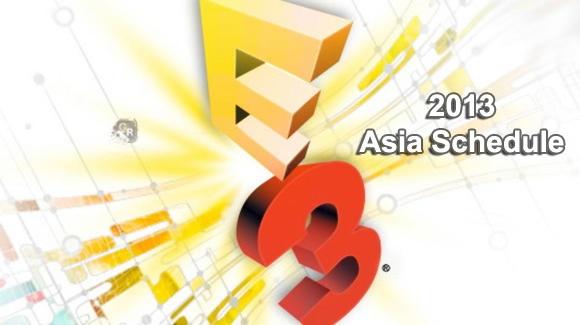 E3-2013-Asia-Schedule