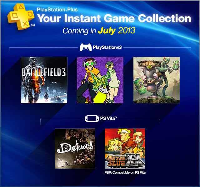 July instant collection PSPlus