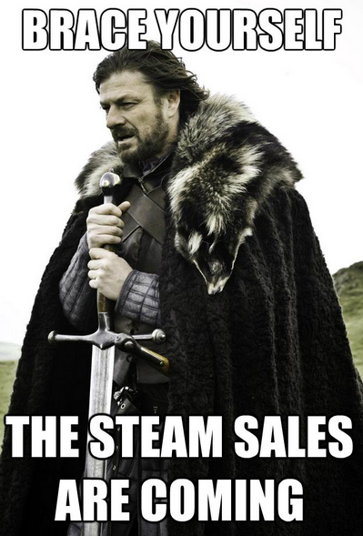 steam sale is coming