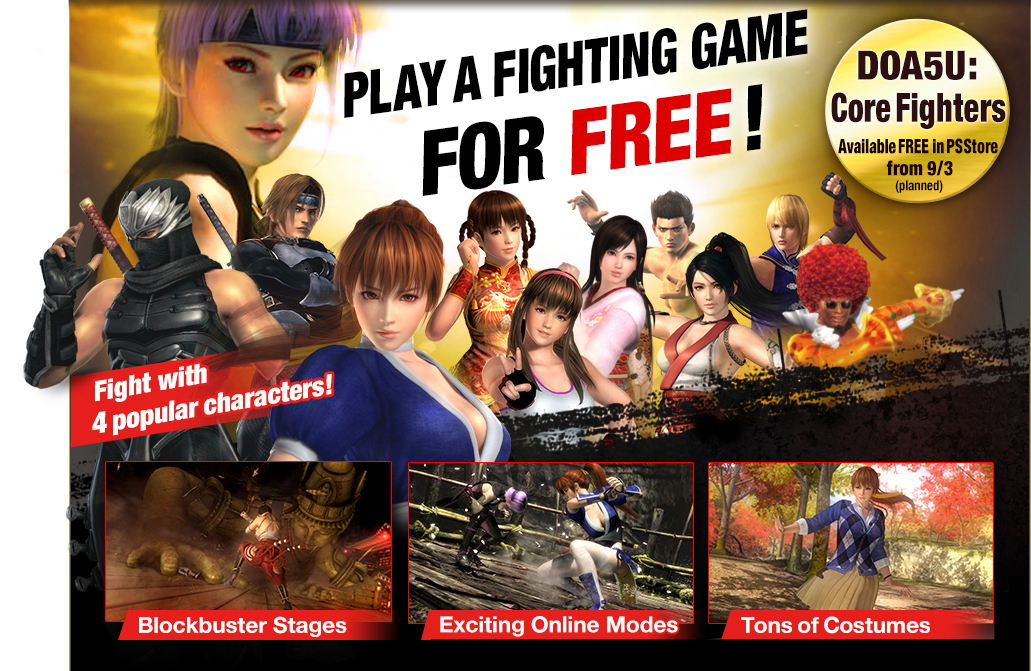 doa5u core fighters