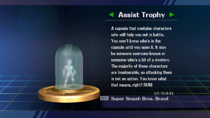 brawl assist trophy description
