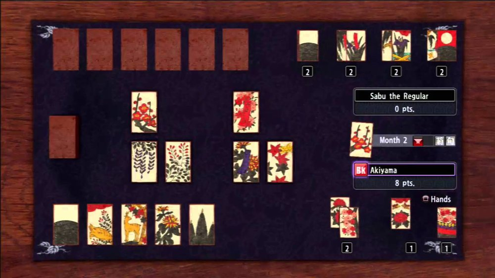 Koi-koi, one of many games that can be played using Japanese Hanafuda playing cards.