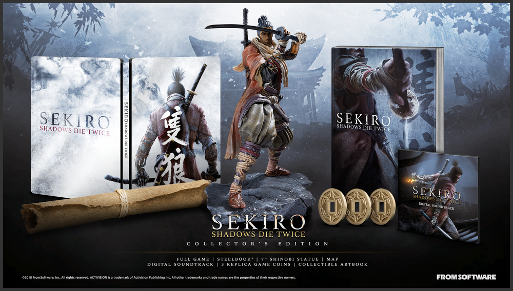 Sekiro: Shadows Die Twice's  Collector's Edition will cost you PHP 6,199 in the Philippines.