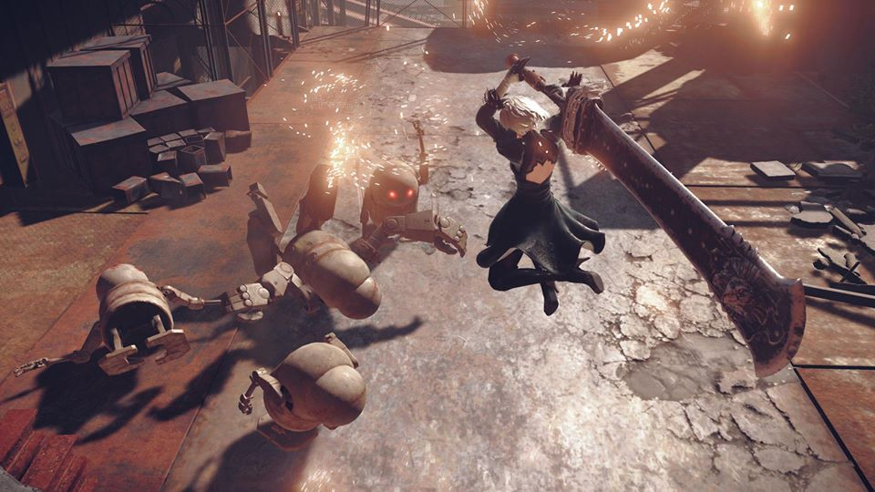 I finally got to sit down this past weekend and play more  Nier: Automata !