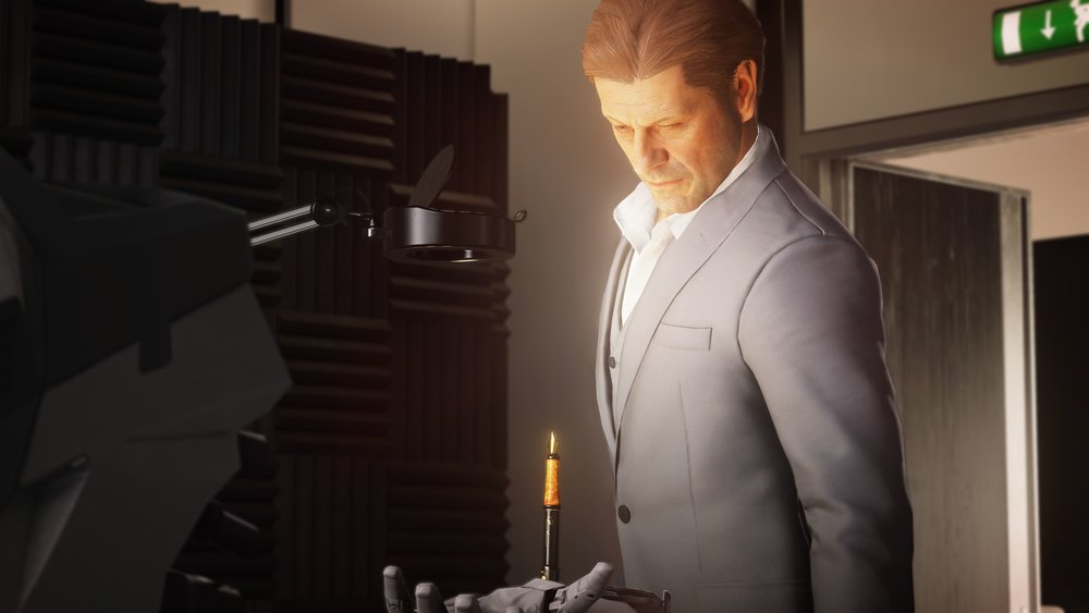 Sean Bean as Mark Faba and is the first Elusive Target for  Hitman 2 .