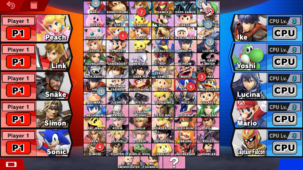 ssbu character select screen