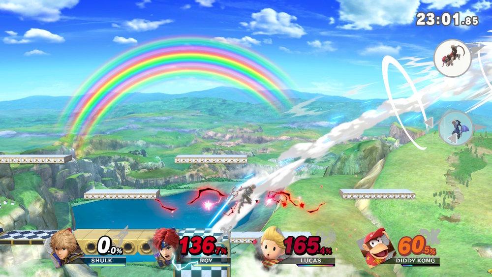 Super smash bros ultimate gameplay footage.