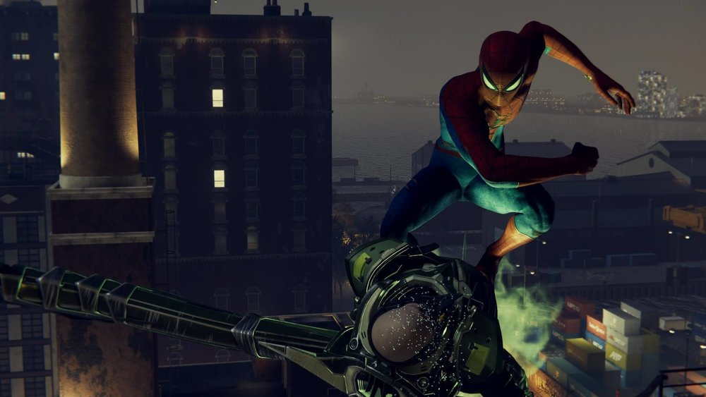 Spider-Man taking on the Vulture.