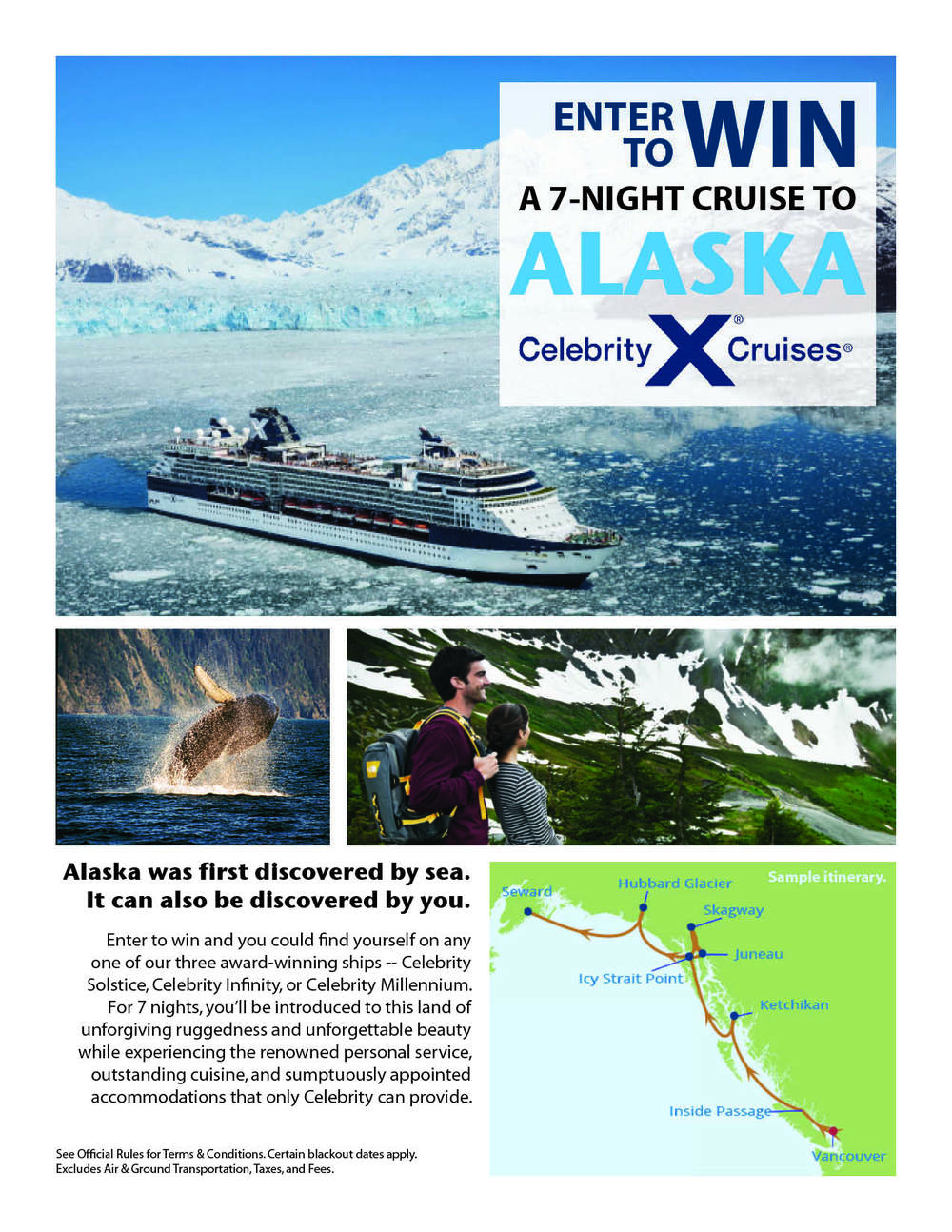 Print Flyer: Celebrity Cruises Enter to Win
