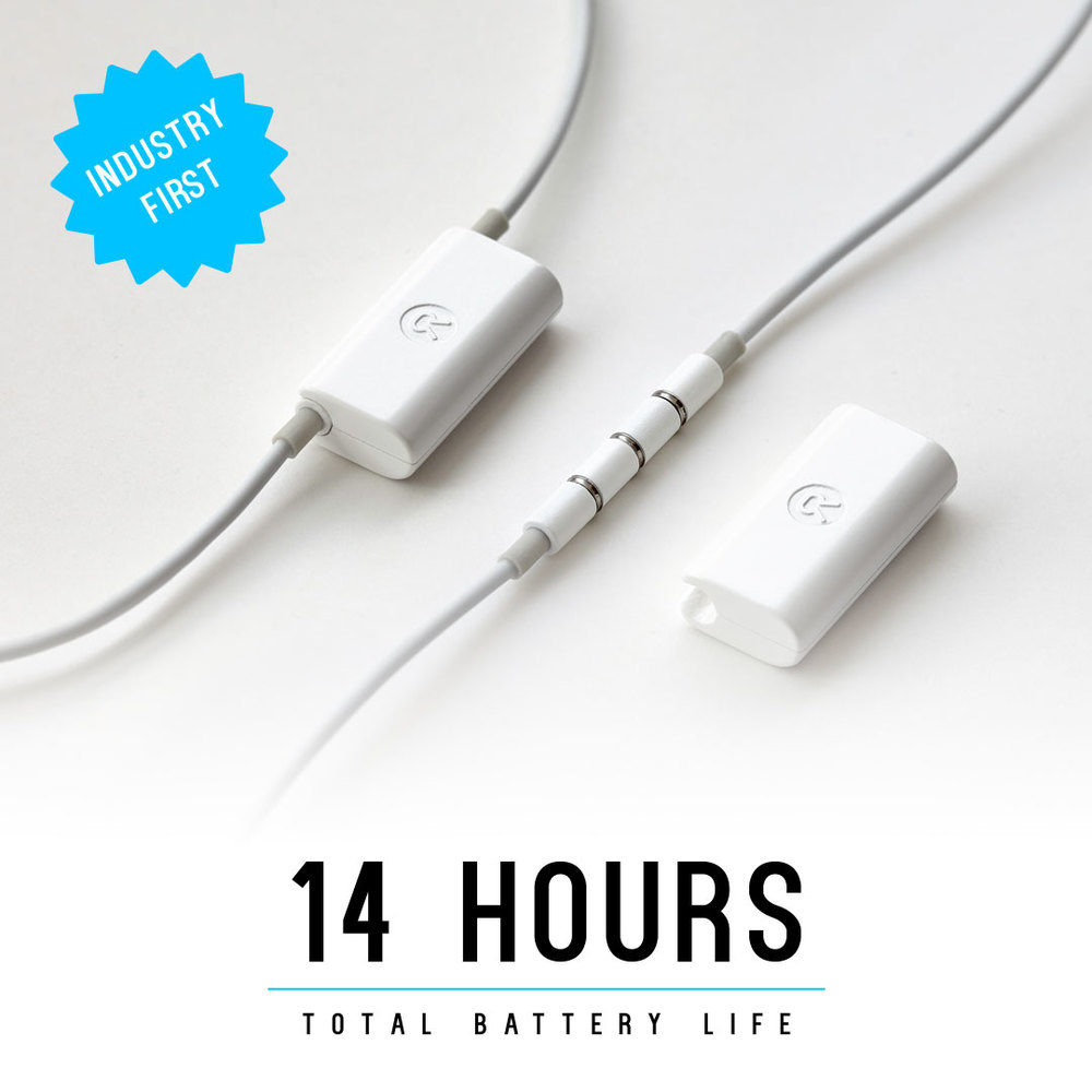Enjoy 8 hours of reliable playtime. Clip on the Revive battery pack for an extra 6 hours!